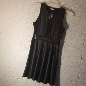 Lace silky dress